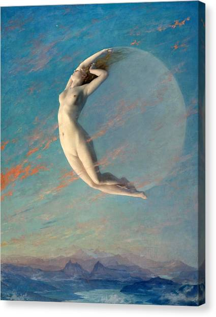 Canvas Print featuring the painting Selene by Albert Aublet
