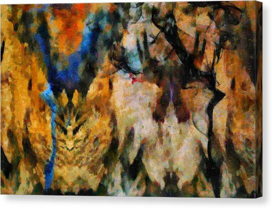 Lyrical Abstraction Canvas Print - Self Aware by Dan Sproul