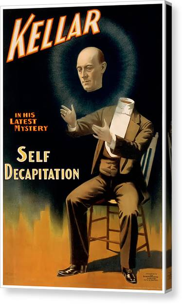 Self Decapitation Canvas Print