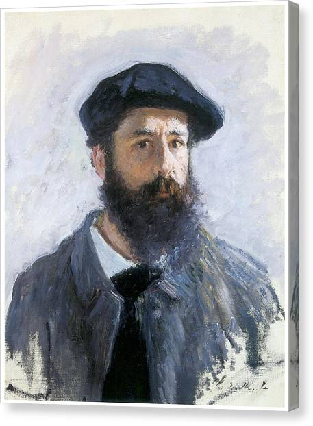 Self-portrait Canvas Print by Claude Monet