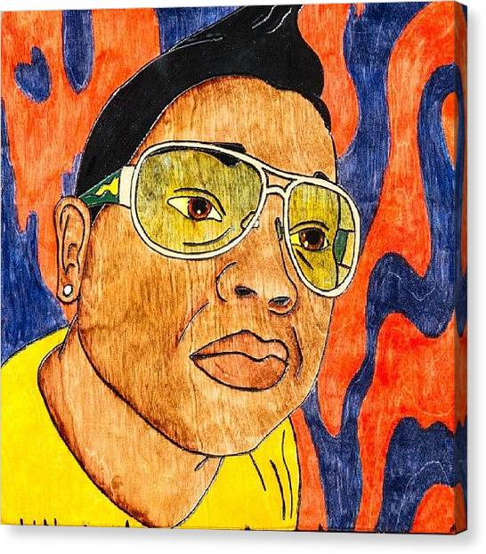 Submission Canvas Print - Self Portrait by Errick Freeman