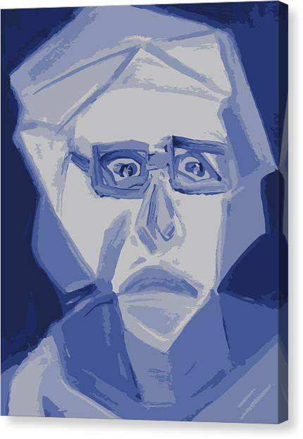 Self Portrait In Cubism Canvas Print