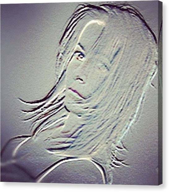 Picoftheday Canvas Print - Self-portrait #mgmarts #selfportrait by Marianna Mills
