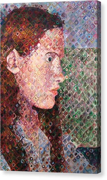 Pixelated Canvas Print - Self Portrait by Tanya Kimberly Orme