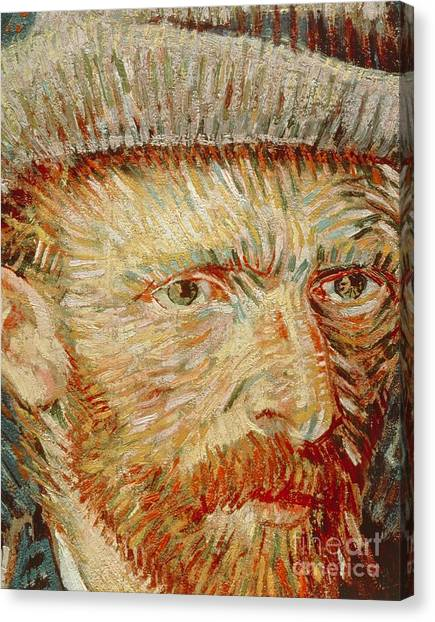 Rijksmuseum Canvas Print - Self-portrait With Hat by Vincent van Gogh