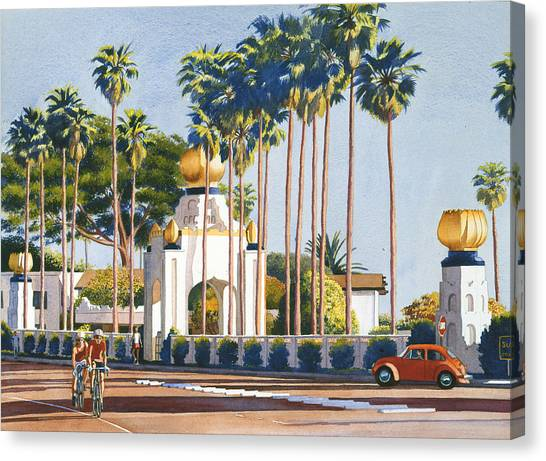 Yogi Canvas Print - Self Realization Fellowship Encinitas by Mary Helmreich