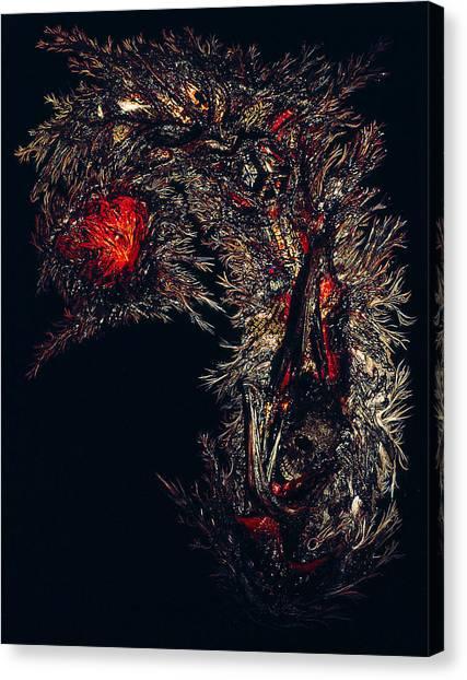 Self Signatures Until The Final Darkening Canvas Print by R Johnson