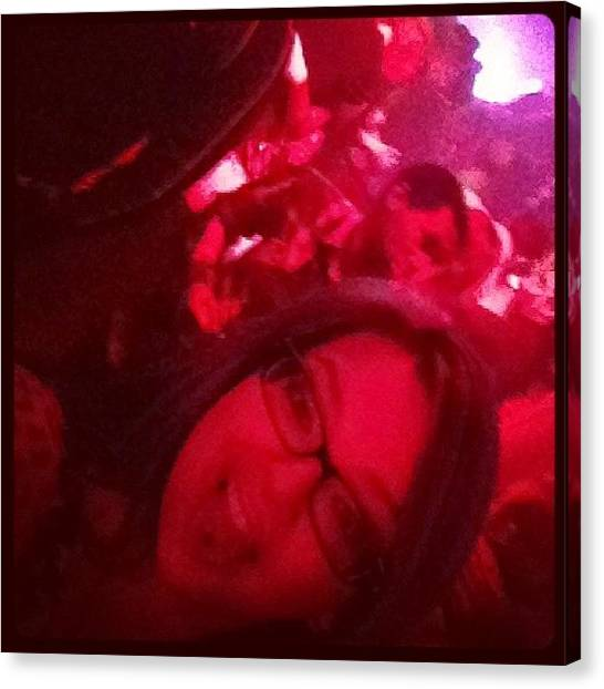 Hammers Canvas Print - #selfie #drunk #theloop #downtown #bar by Katrina A