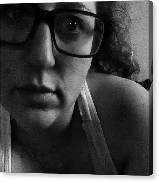 Spurs Canvas Print - #selfie #me #sleepy #nomakeup #overtime by Alyson Schwartz
