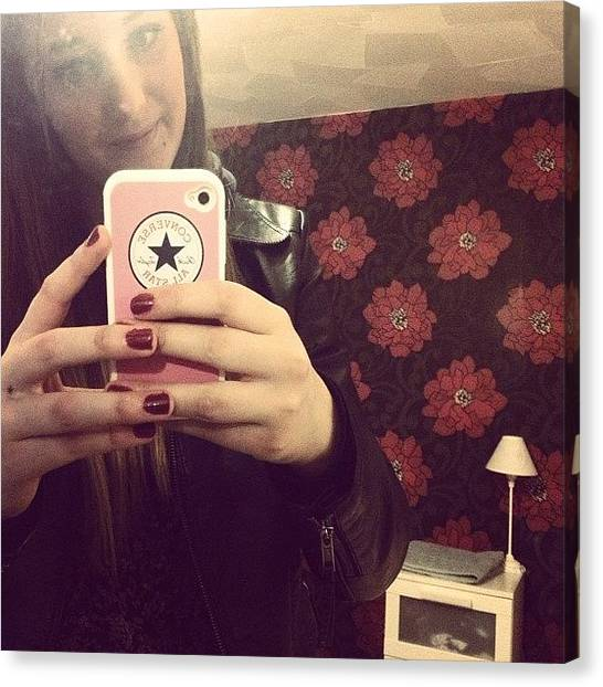 I Phone Canvas Print - Selfie #room #home #yay #converse by Emma Carpenter