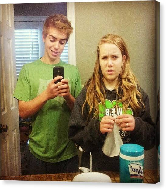 Sprite Canvas Print - #selfie With Lil #sister #swag #hot #me by Locksley Shoemaker