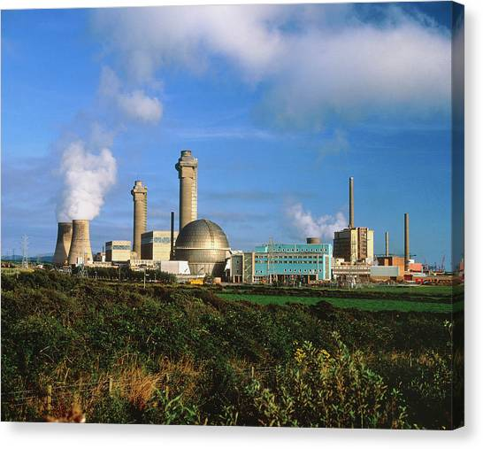 Nuclear Plants Canvas Print - Sellafield Nuclear Plant by Martin Bond/science Photo Library