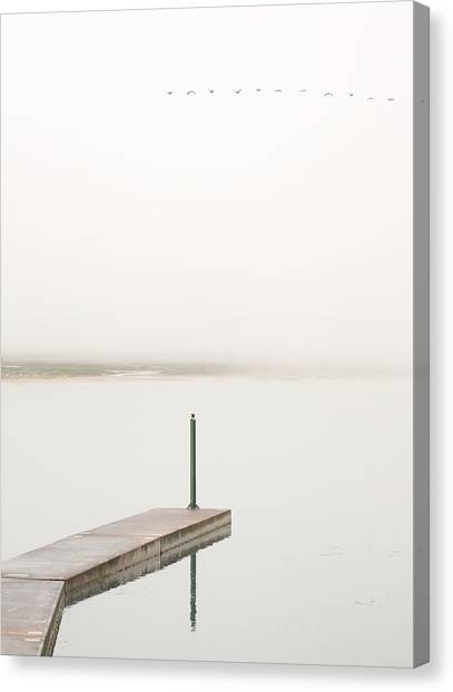 Marshes Canvas Print - Semaphore In Green by Jesus Concepcion