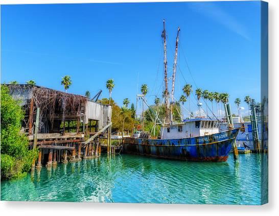 Seminole Trader Shrimp Fishing Boat Canvas Print