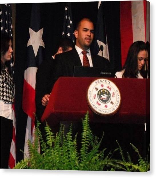 Presentations Canvas Print - #senado  De #puertorico  #senate by Jason Velez