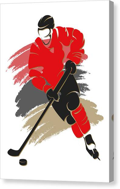 Ottawa Senators Canvas Print - Senators Shadow Player2 by Joe Hamilton