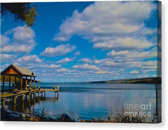 Seneca Lake At Glenora Point Canvas Print