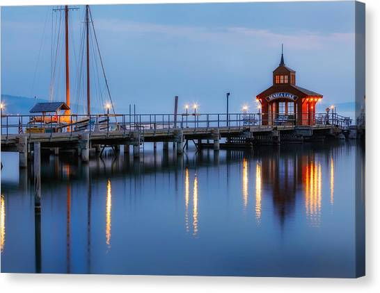 Glen Canvas Print - Seneca Lake by Bill Wakeley