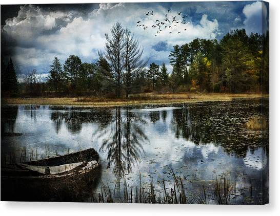 Seney And The Rowboat Canvas Print