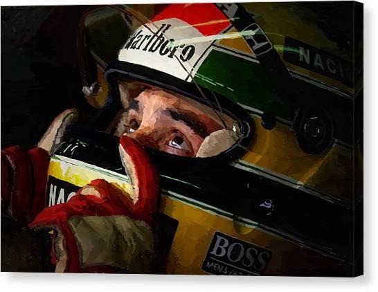 Formula 1 Canvas Print - Senna by Charley Pallos