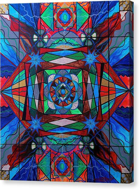Sacred Canvas Print - Sense Of Security  by Teal Eye Print Store