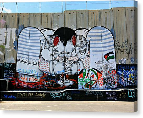 Palestinian Canvas Print - Separation -- West Bank Barrier Wall by Stephen Stookey