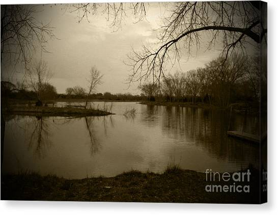 Sepia Lake Canvas Print