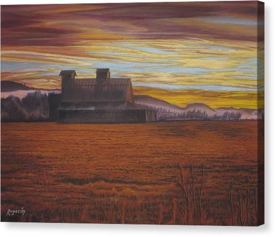 Sepia Sunset Canvas Print