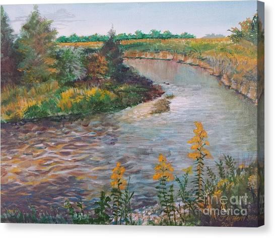 September At Creekside Canvas Print