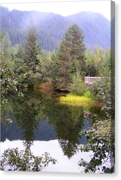 September At The Mendenhall Glacier. Canvas Print