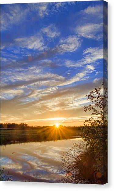 September Sky Reflection Canvas Print