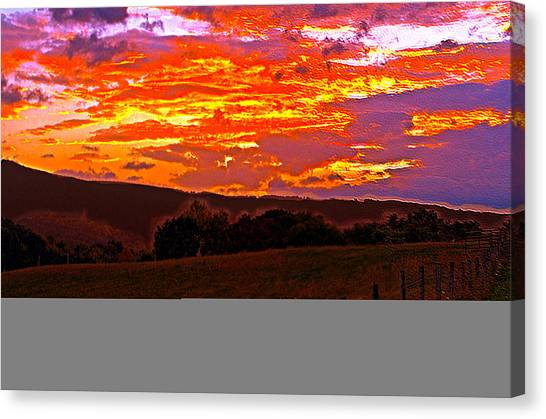 September Smokies Sunrise Canvas Print