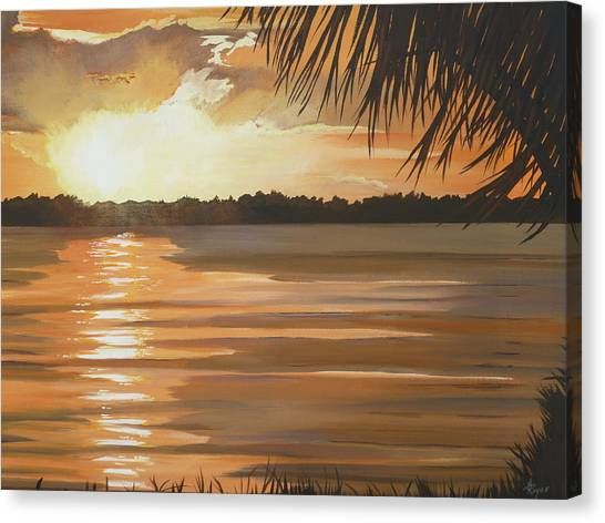 September Sunset 7 32pm Haulover Park Canvas Print by Lori Royce