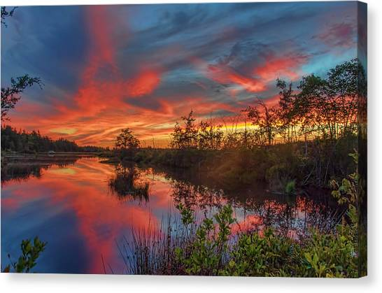 September Sunset Reflection Canvas Print