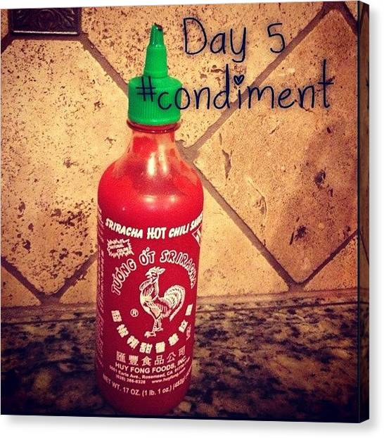 Hot Sauce Canvas Print - #septfoodaday #condiment #day5 by Rainey Shafer