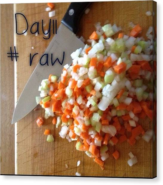 Onions Canvas Print - #septfoodaday #raw #day11 #mirepoix by Rainey Shafer