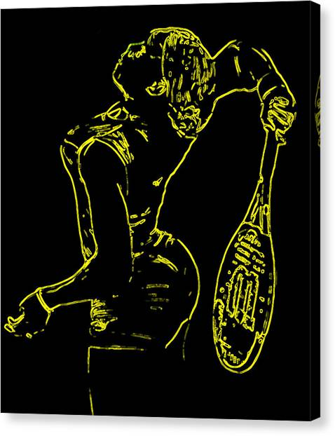 Venus Williams Canvas Print - Serena Glowing Catsuit by Brian Reaves