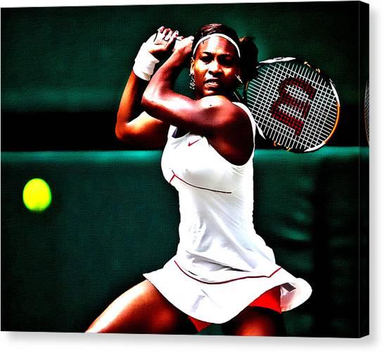 Serena Williams Canvas Print - Serena Williams 3a by Brian Reaves