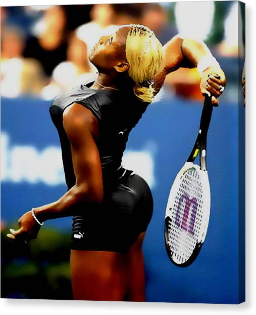 Serena Williams Canvas Print - Serena Williams Catsuit II by Brian Reaves