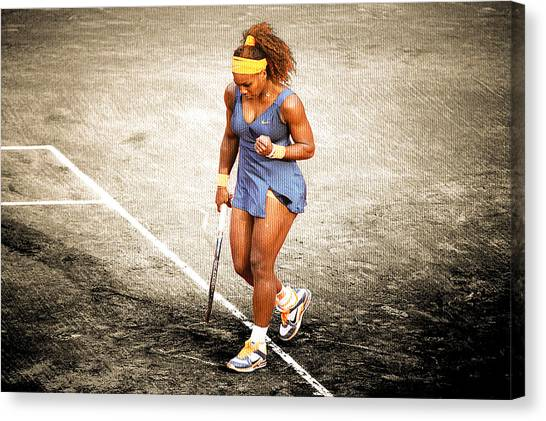 Venus Williams Canvas Print - Serena Williams Count It by Brian Reaves