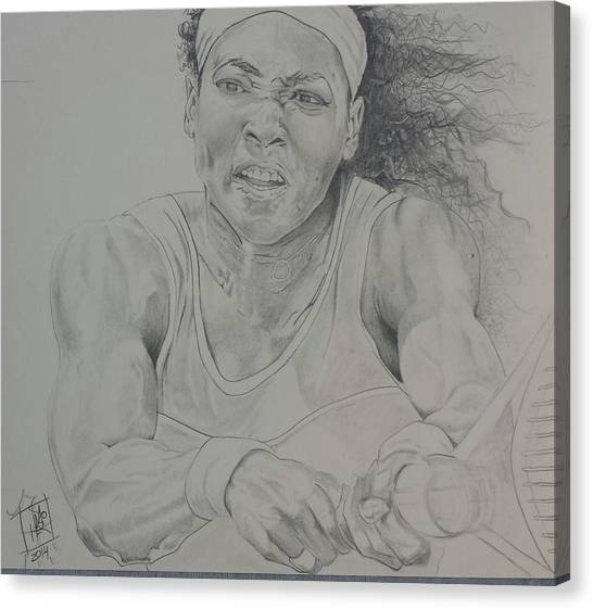 Serena Williams Canvas Print - Serena Williams by DMo Herr