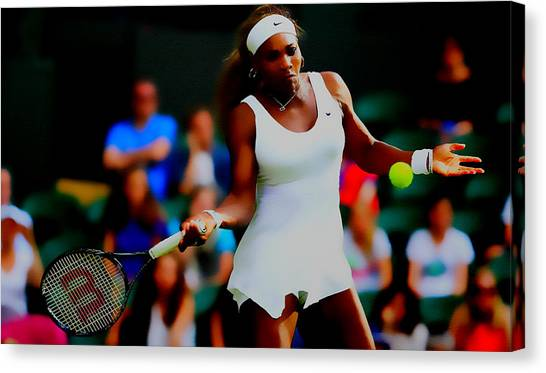 Venus Williams Canvas Print - Serena Williams Making It Look Easy by Brian Reaves