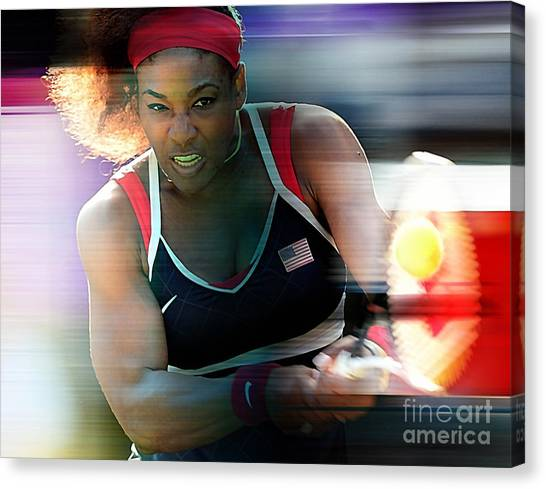 Serena Williams Canvas Print - Serena Williams by Marvin Blaine