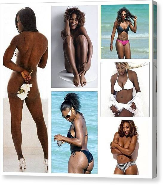Venus Canvas Print - Serena Williams by Nigel Williams