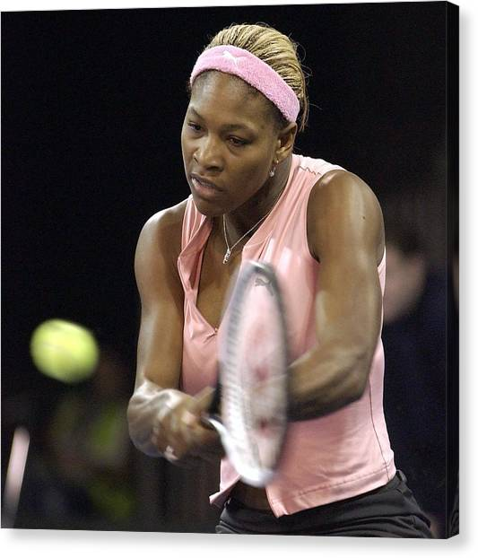 Serena Williams Of The Usa  Canvas Print by Jamie McDonald