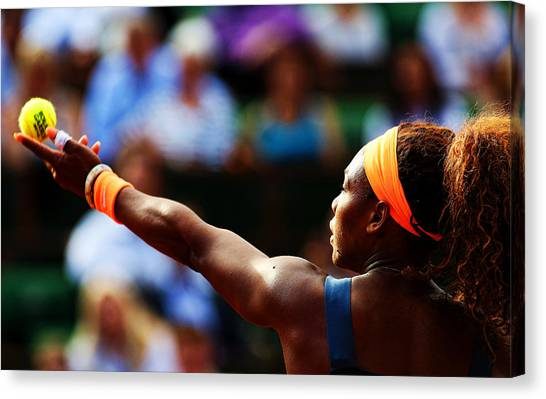 Serena Williams Canvas Print - Serena Williams by Srdjan Petrovic