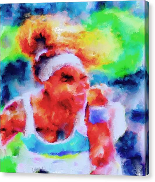 Venus Williams Canvas Print - Serena Williams Yes by Brian Reaves