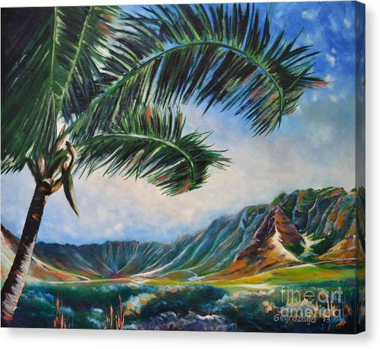Serene Beauty Of Makua Valley Canvas Print