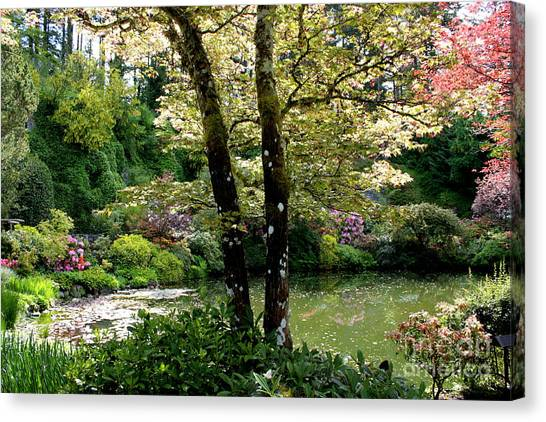 Serene Garden Retreat Canvas Print