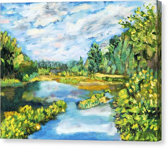 Serene Pond Canvas Print